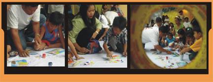 workshop with nanay, tatay